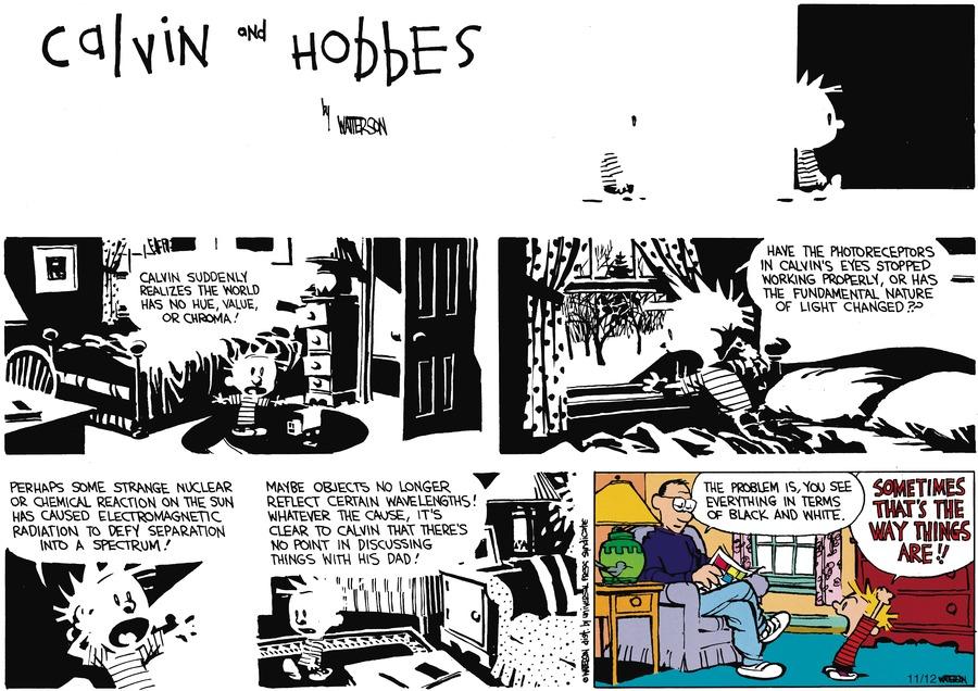 Calvin and Hobbes comic strip 2 Mar 1991